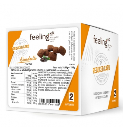 Feeling OK optimize quadrelli cacao 3x50g