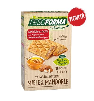PesoForma biscotti integrali miele e mandorle 16pz