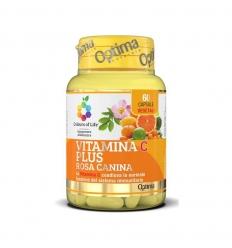 Optima vitamina C plus rosa canina 60cps