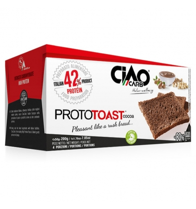 CiaoCarb ProtoToast STAGE1 cacao 4x50g