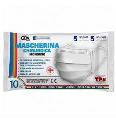 GDA Mascherina Chirurgica 10 pezzi azzurra